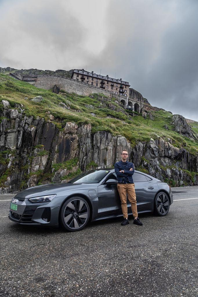 Filip Trusz i Audi e-tron GT