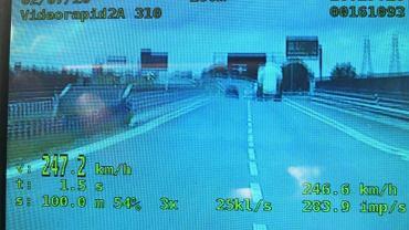 Jechał 247 km/h na S11