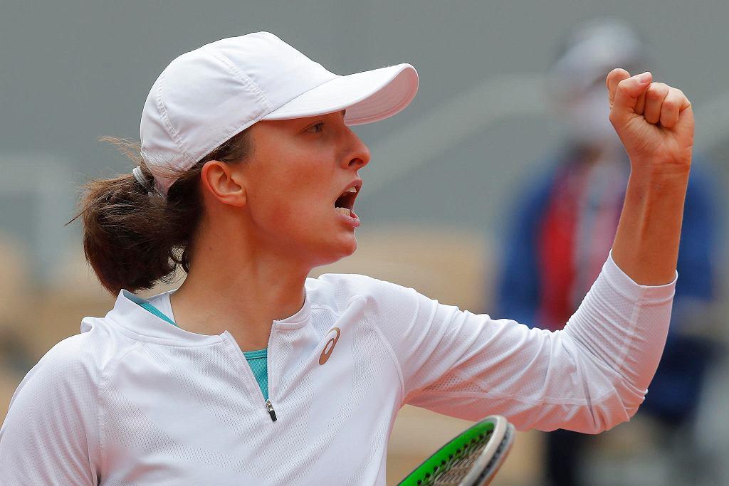 Roland Garros. Półfinał Iga Świątek (na zdjęciu) - Nadia Podoroska