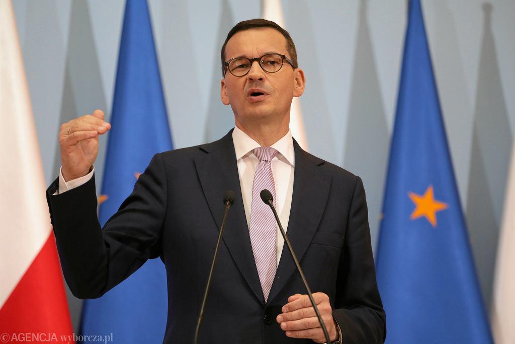 Premier Mateusz Morawiecki przedstawia projekt budżetu na 2020 rok.