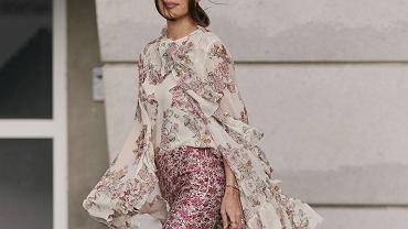 Elegancka bluzka damska w kwiaty