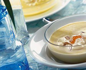 Zupa grzybowa z kawiorem