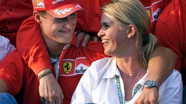 Michael Schumacher z żoną