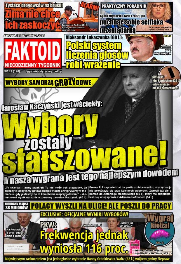 Faktoid, 19 listopada 2014, nr 42 (196) -  - Gazeta.pl