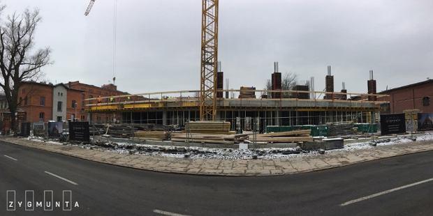 Teren budowy inwestycji 'Apartamenty Zygmunta'