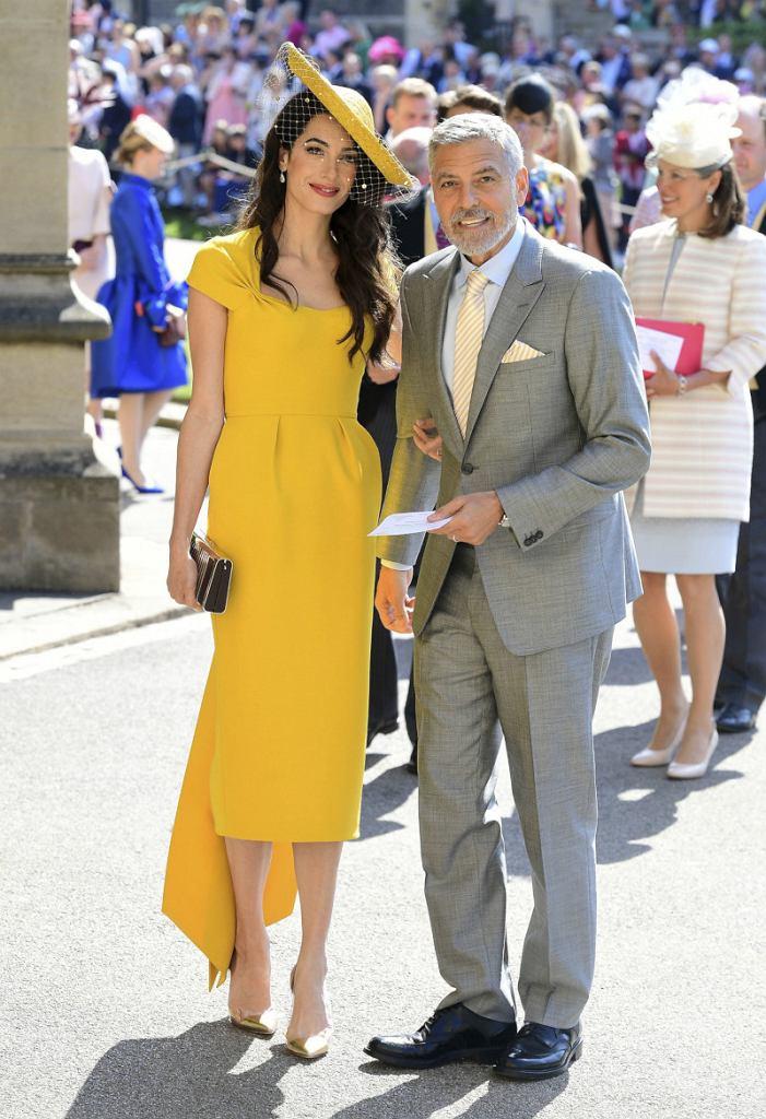Amal i George Clooneyowie na ślubie Meghan Markle i księcia Harry'ego