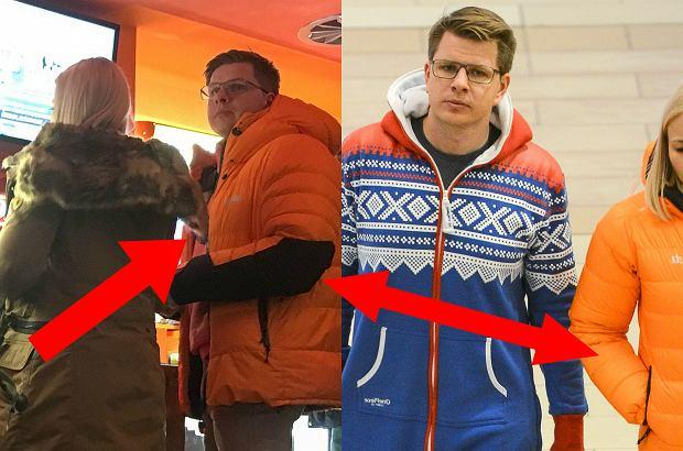 Zdjęcie numer 0 w galerii - Ostatnio Filip Chajzer zadziwił swoim strojem. Teraz do kina przyszedł w bliźniaczej kurtce narzeczonej. Spójrzcie też na bluzę. Obrazek ma znaczenie!