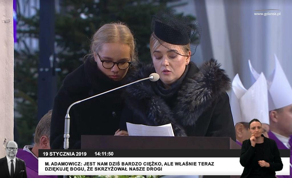 Żona i córka żegnają Pawła Adamowicza