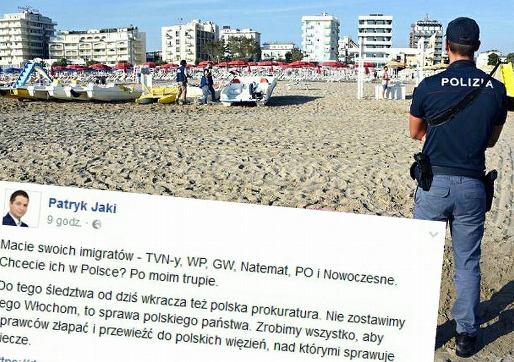 Komentarz Patryka Jakiego po gwałcie w Rimini