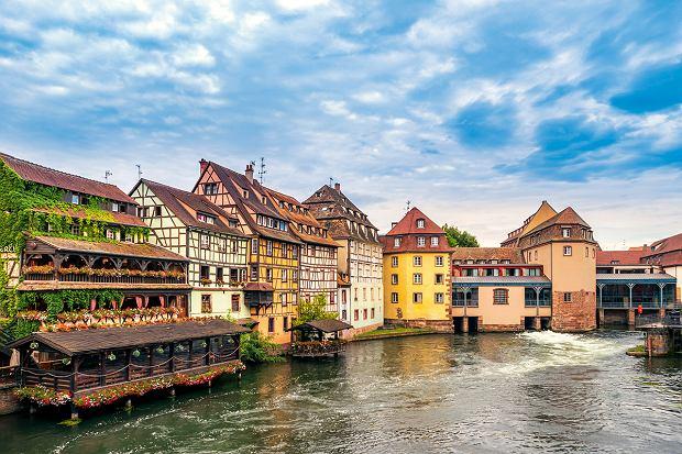 Strasburg, malownicze domy nad Renem.