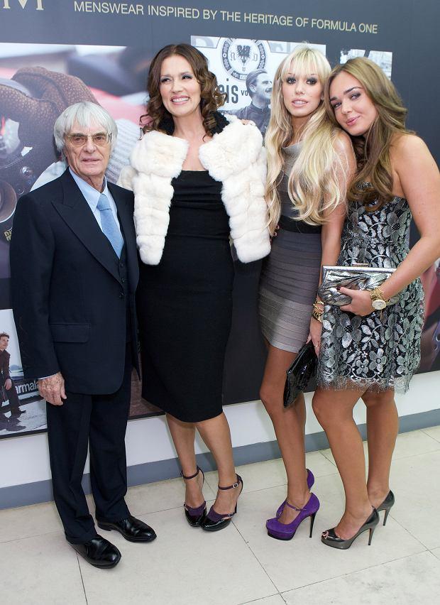 Slavica Ecclestone, Bernie Ecclestone, Petra Ecclestone, Tamara Ecclestone
