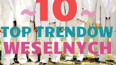 10 trendów ślubnych