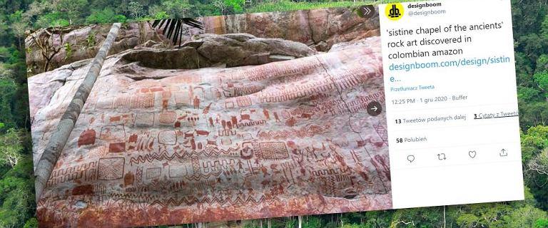 """Kolumbia. Odkryto """"Kaplicę Sykstyńską"""" - malowidła pochodzą sprzed 12 500 lat"""