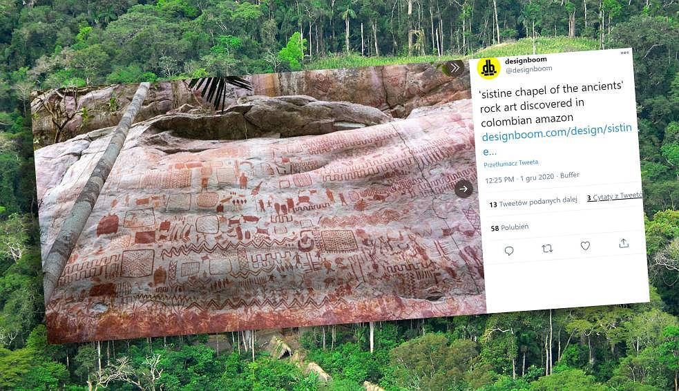W Kolumbii odkryto 'Kaplicę Sykstyńską Starożytności'.