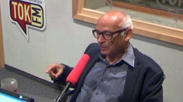 Jan Lityński w studiu radia TOK FM