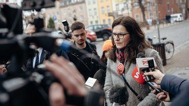 Komisarz Gdańska Aleksandra Dulkiewicz w dniu wyborów