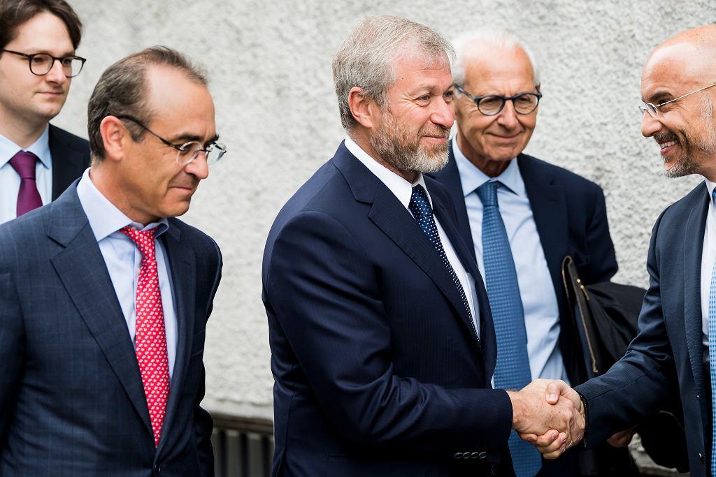 18.05.2018, Fryburg, Szwajcaria, Roman Abramowicz w towarzystwie swoich prawników.