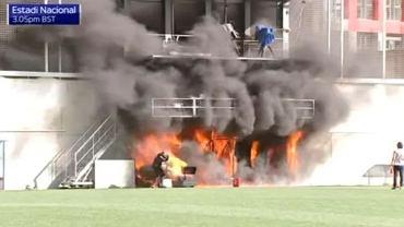 Pożar na stadionie w Andorze