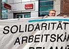 """""""Praca tymczasowa, wyzysk stały"""". Międzynarodowy protest przeciwko Amazonowi w Poznaniu"""