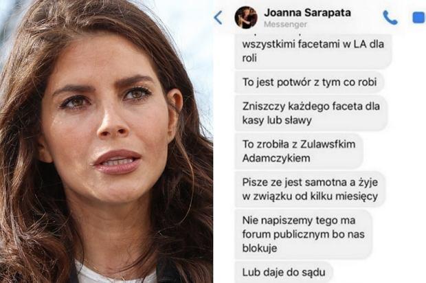 Znajoma Roberta Śmigielskiego - Joanna Sarapata - wysyła do mediów wiadomości, które mają pogrążyć Weronikę Rosati? Aktorka opublikowała screeny na Instagramie. Odpowiedziała też na zarzuty.