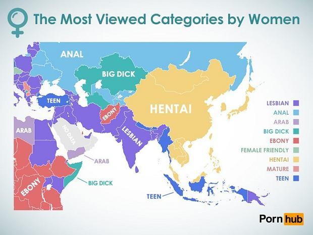 Co oglądają Azjatki/fot. pornhub.com
