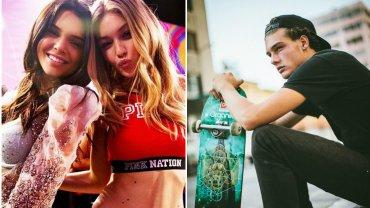 Kendall Jenner, Gigi Hadid i John Economou, model, którego wylansowały