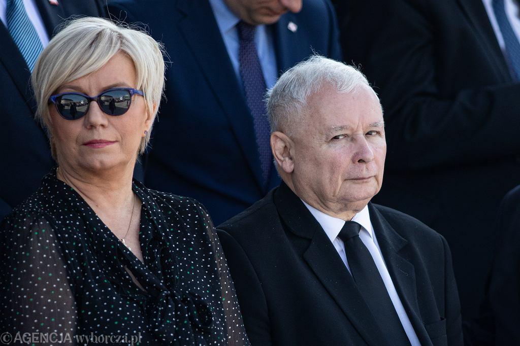 Prezes Trybunału Konstytucyjnego Julia Przyłębska i prezes PiS Jarosław Kaczyński. Warszawa, 1 września 2019