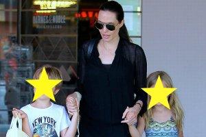 Angelina Jolie z dziećmi, Vivienne i Knoxem, na zakupach