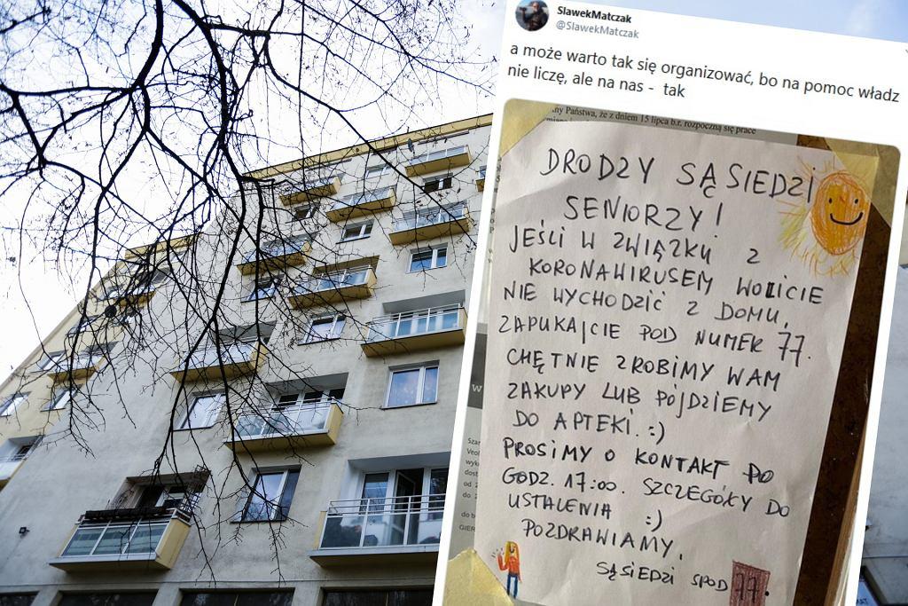 Ogłoszenie sąsiadów ws. koronawirusa