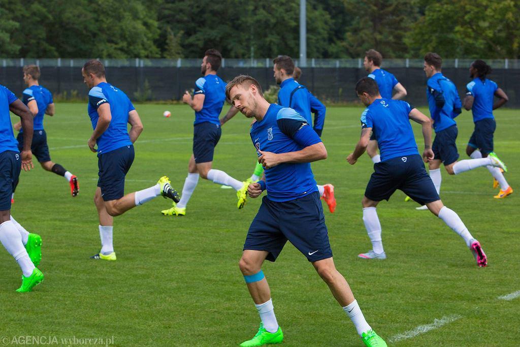 Ostatni trening Lecha Poznań przed meczem z FC Basel. Barry Douglas