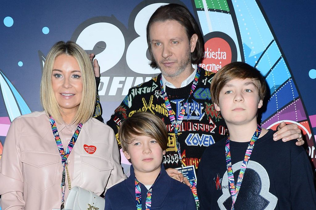 Małgorzata Rozenek z rodziną