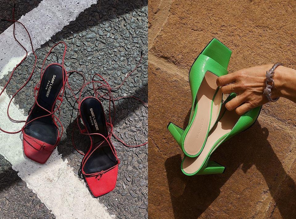 Buty z kwadratowym noskiem