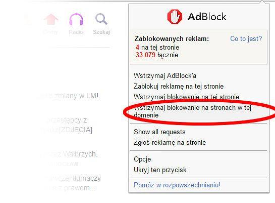 Adblock - jak dodać Gazeta.pl do białej listy