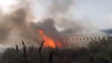 Meksyk. Katastrofa samolotu - nagranie