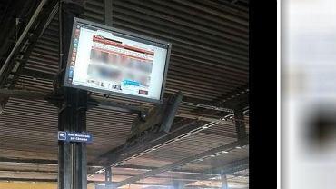 Zdjęcie ekranu na dworcu w Kurytybie