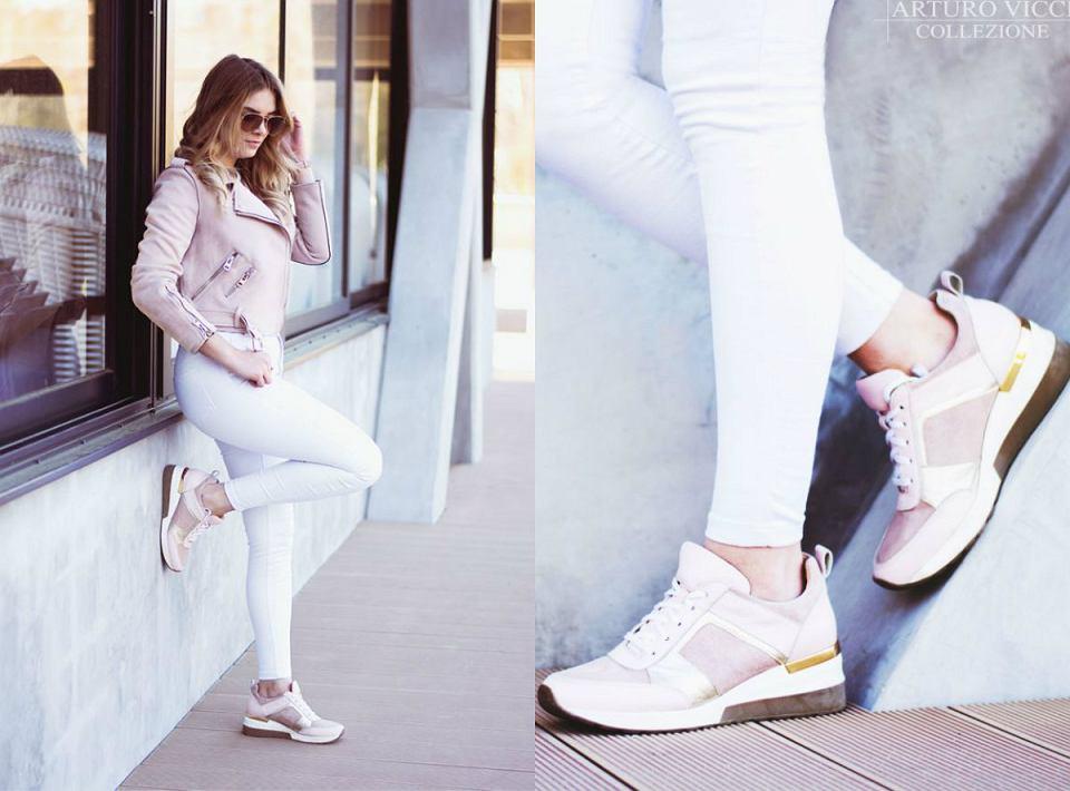 Sneakersy Arturo Vicci pięknie wyglądają na stopie i gwarantują wygodę przez cały czas chodzenia