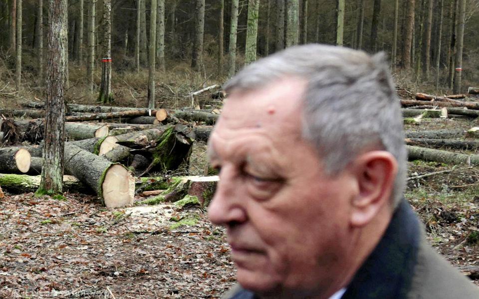 Jan Szyszko w Puszczy Białowieskiej
