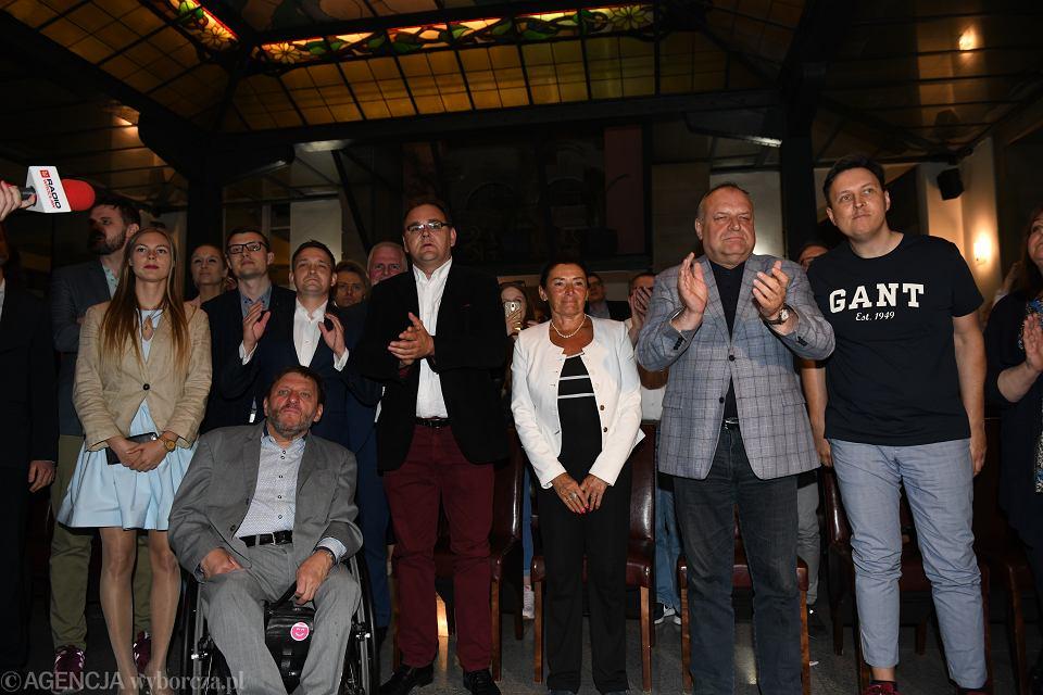 Wybory do europarlamentu 2019. Wieczór wyborczy Koalicji Europejskiej we Wrocławiu