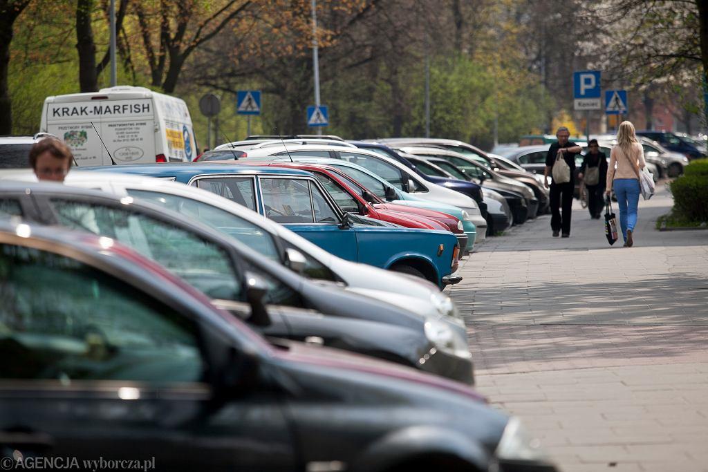 Strefa płatnego parkowania w Krakowie.