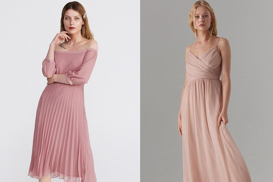 Sukienka pudrowy róż do 250 zł