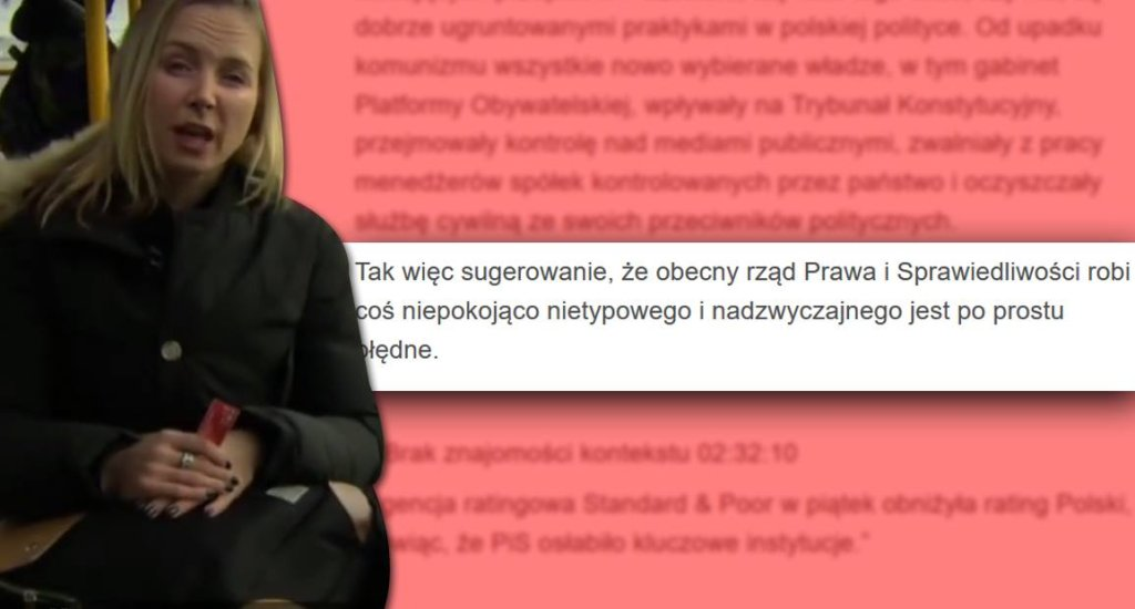 Reporterka BBC i oświadczenie MSZ