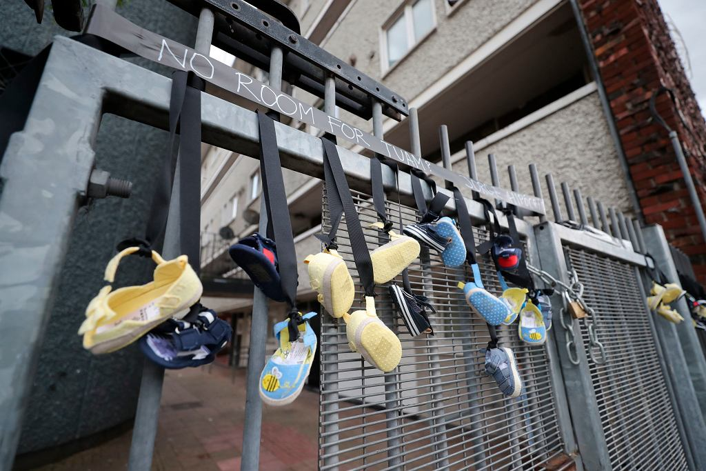 Dublin, buty symbolizujące ofiary pedofilii