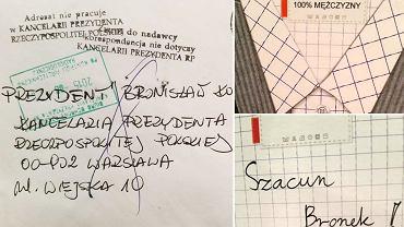 List do Bronisława Komorowskiego zwrócony przez kancelarię prezydenta Dudy