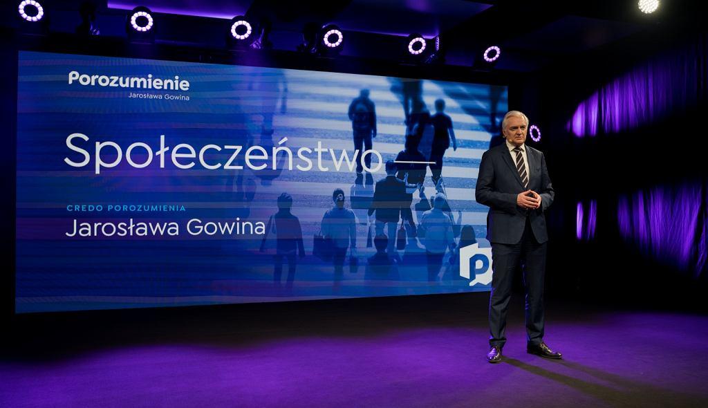 Jarosław Gowin w czasie konwencji