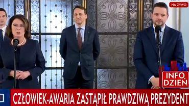 Małgorzata Kidawa-Błońska i Rafał Trzaskowski
