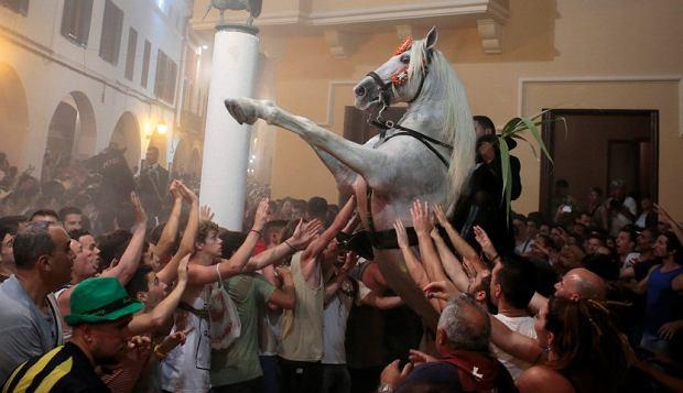 Minorka, Ciutadella, celebracja jeźdźców iich koni wDniu ŚwiętegoJana