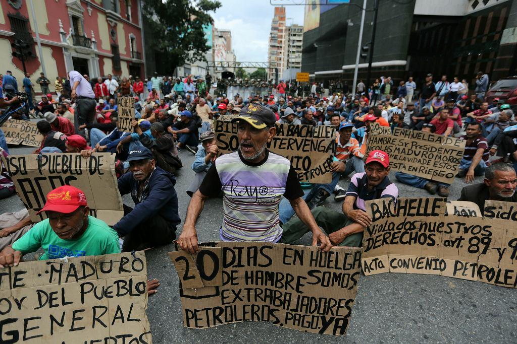 Protest w Caracas, 20 czerwca 2019.
