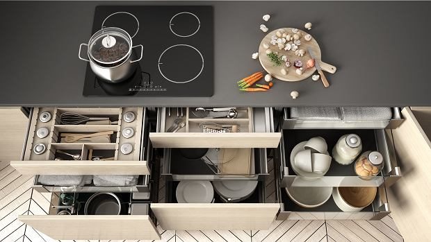 Jak zagospodarować szafki kuchenne?