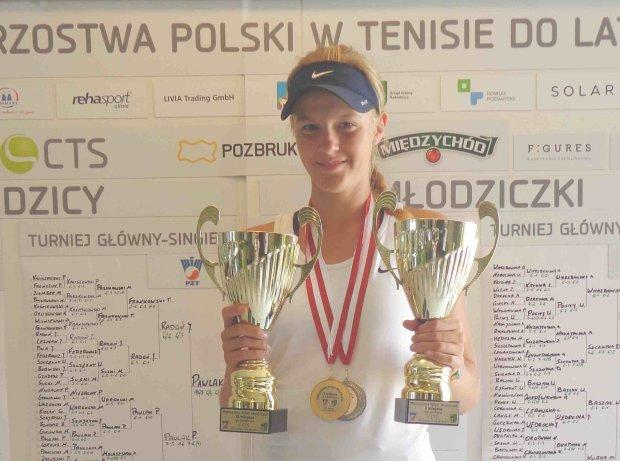 Martyna na mistrzostwach Polski: złota w deblu, srebrna w singlu