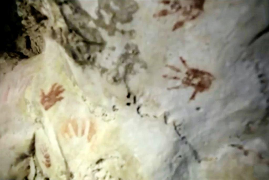 Ślady znalezione w jaskini